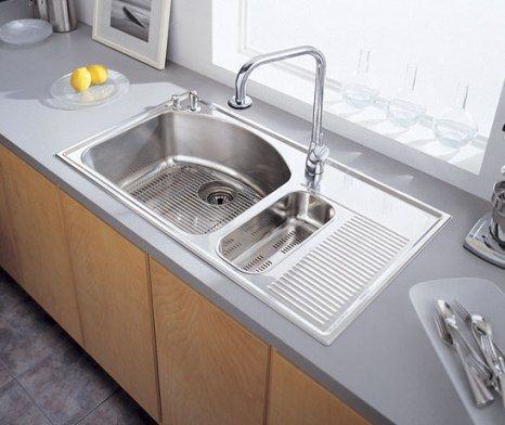 Stainless Steel Kitchen Sinks With Drainboards metal sink withdrainboard |  gallery related to stainless steel