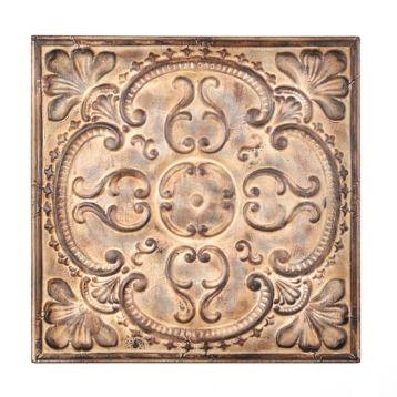 Victorian metal tile plaque