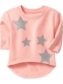 Old Navy Baby Girl Gray Lace Front Sweatshirt Top 12-18m Girls' Clothing (newborn-5t)