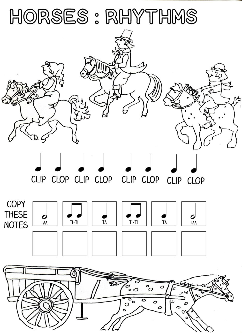 Let\'s Play Music : Horses - Rhythm Work Sheet - Free Printables ...