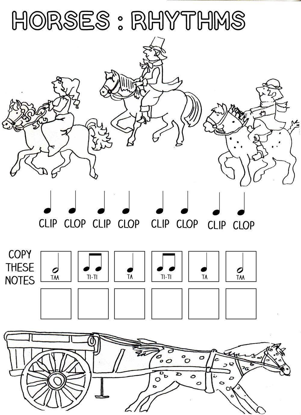 Let S Play Music Horses Rhythm Work Sheet Free Printables Free Music Worksheets Kindergarten Music Music Worksheets [ 1376 x 1000 Pixel ]