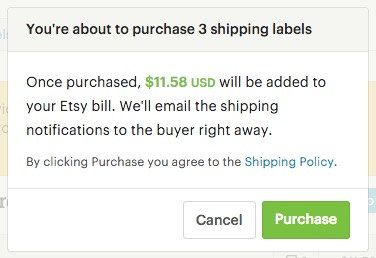 Buy USPS Shipping Labels on Etsy - Etsy Help