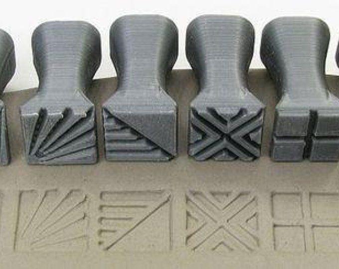 Pottery texturing ceramic clay tools rélyéf set of jumbo etsy