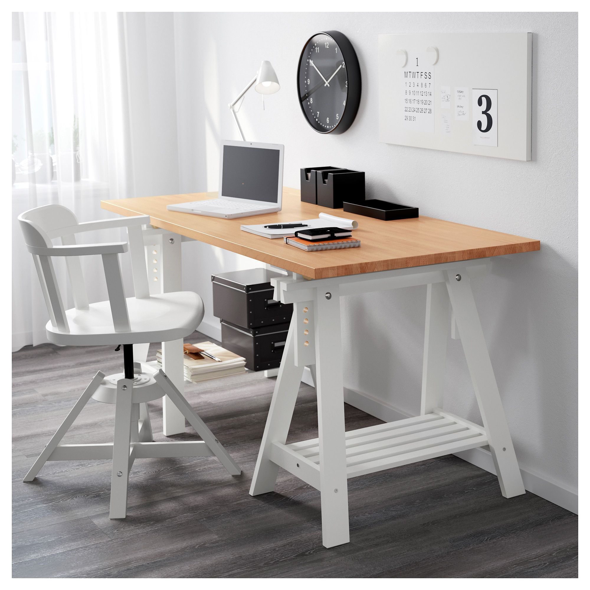 Ikea gerton tabletop beech in 2019 products home office desks ikea table tops ikea table - Table bureau ikea ...