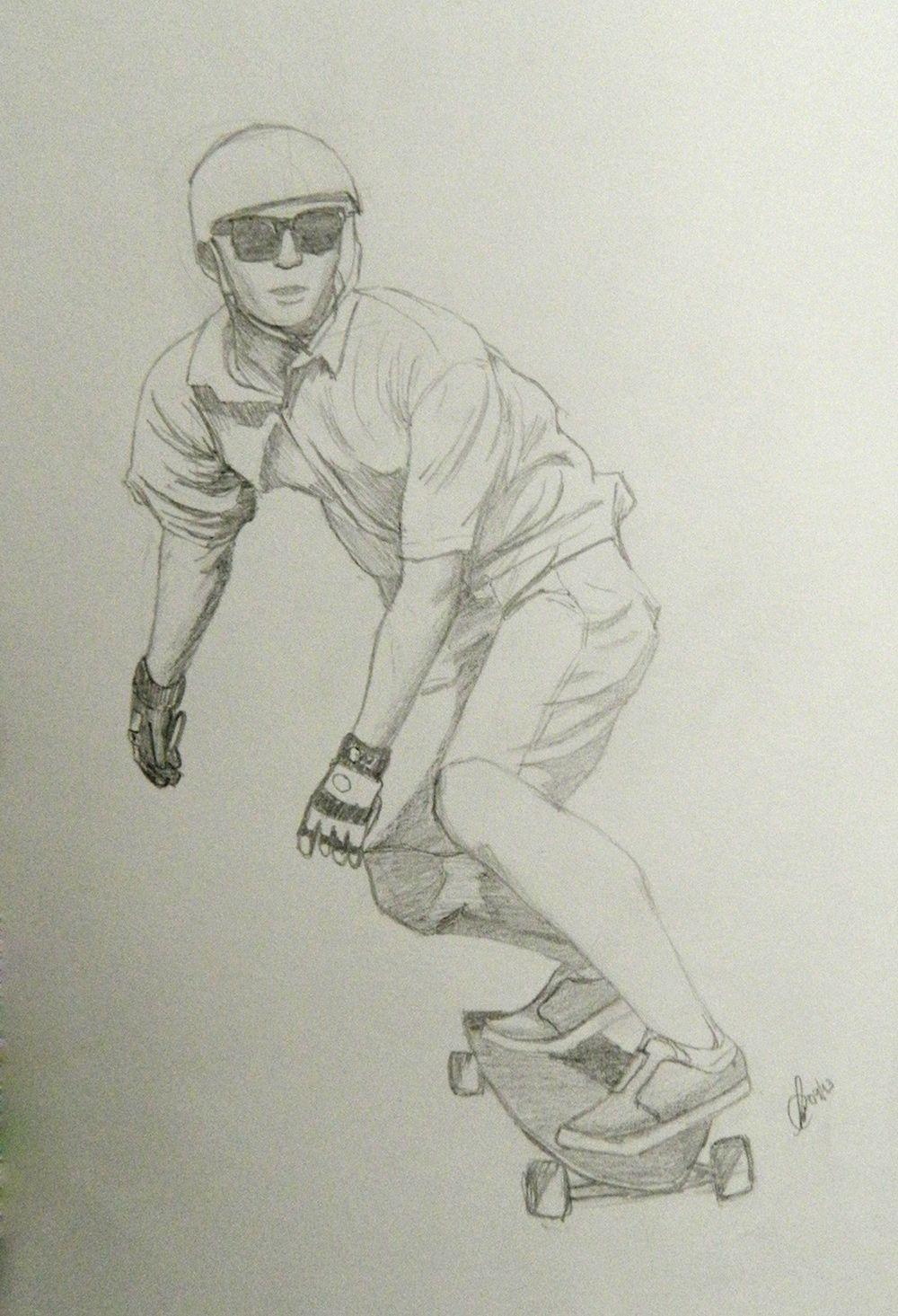 skate lapis meus desenhos pinterest drawings