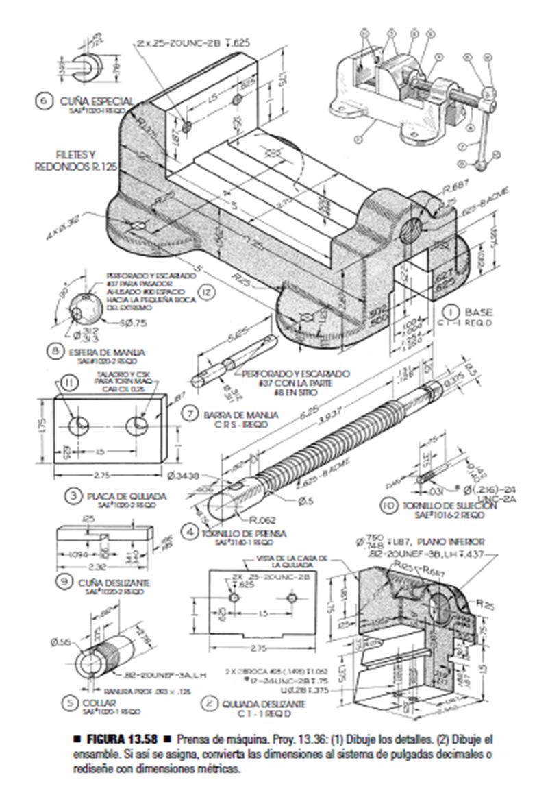 prensa de m u00e1quina  machine vice  - solidworks - 3d cad model