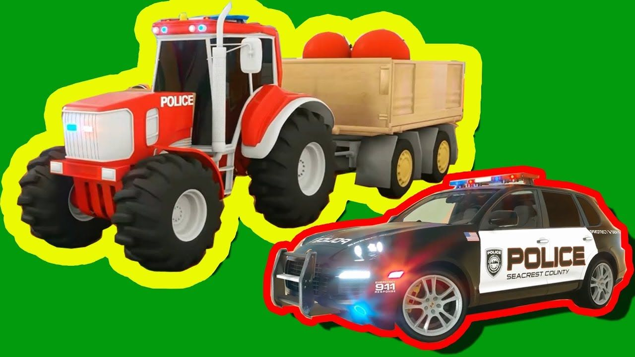 Learn Colors With Police Cars Truck Education Cartoon For Children Trac Learning Colors Police Cars Cars Trucks