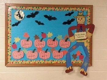 Rhythmic Pumpkin Patch Bulletin Board #halloweenbulletinboards