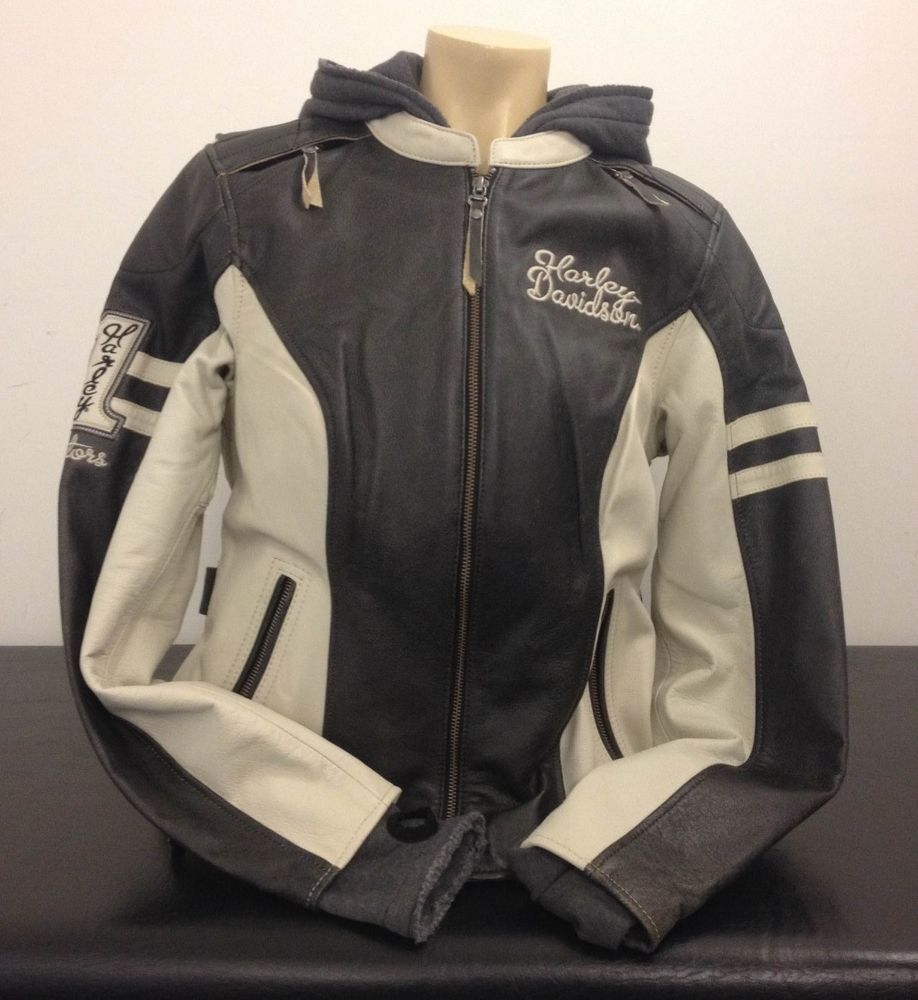 Nos Women S Harley Davidson Dundee 3 In 1 Leather Jacket 97177 14vw Harley Davidson Leather Jacket Jackets [ 1000 x 918 Pixel ]