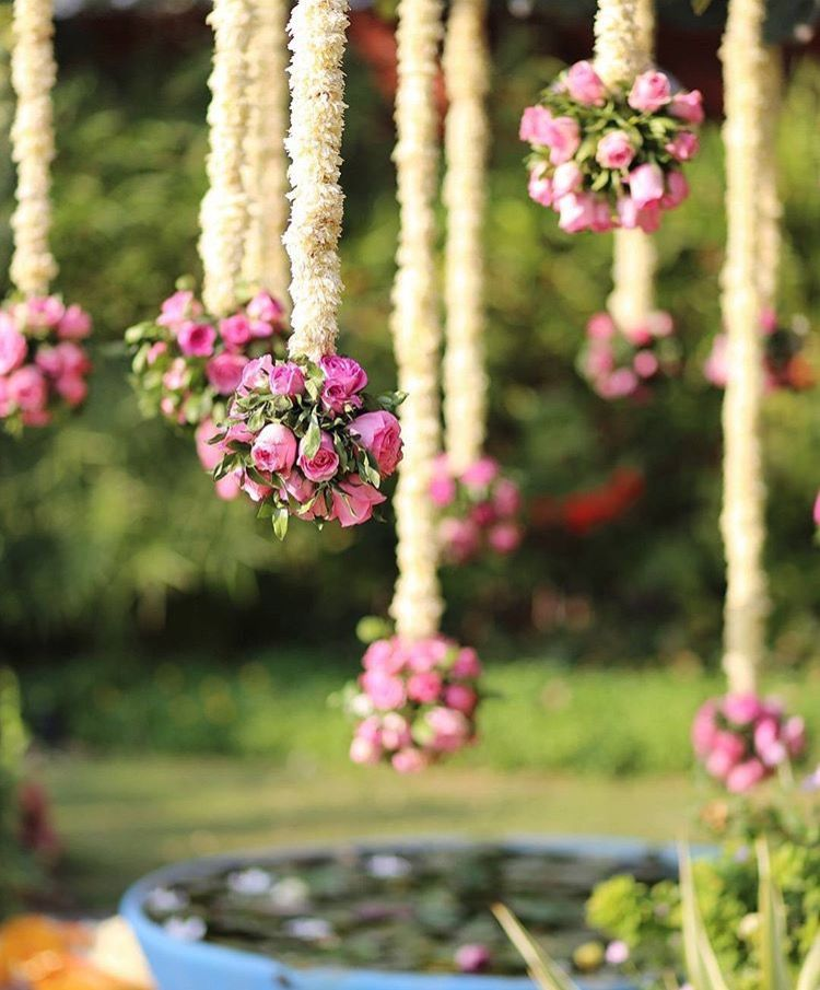 Wedding Altar Synonyms: Hanging Flowers Along The Pathway