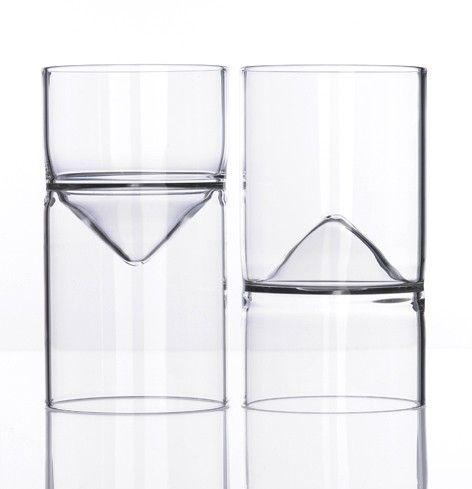 Upside Down 1 - Reversible wine / water #glass by Sebastian Bergne (1990)