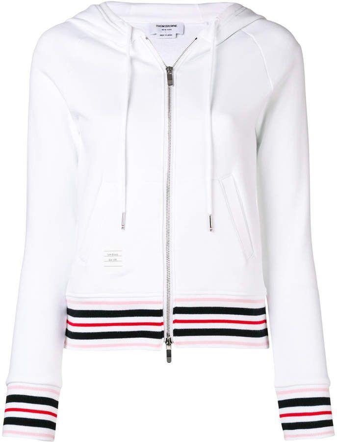 6c38468074 Thom Browne cricket stripe zip-up hoodie | Products | Thom browne ...