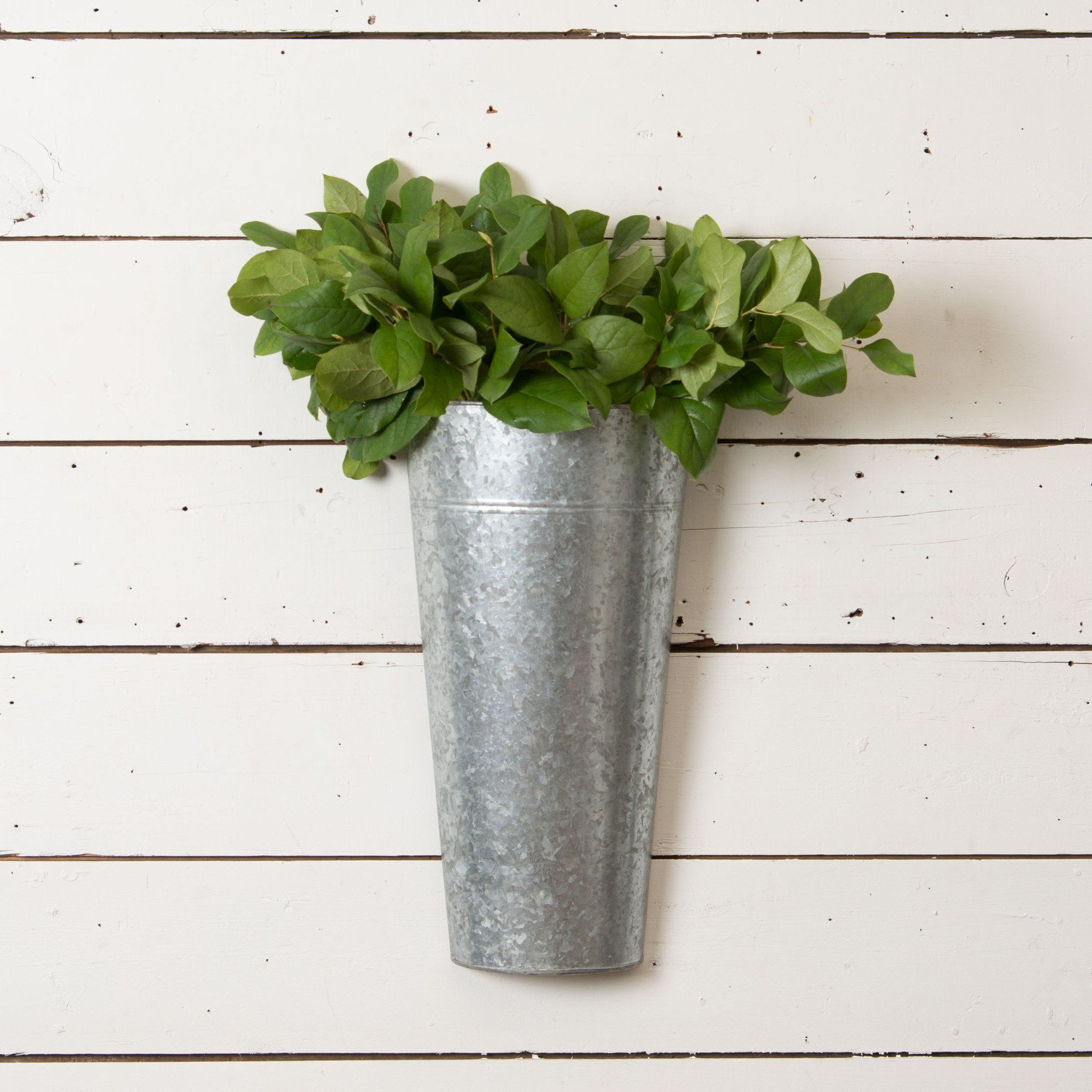 Galvanized Hanging Bucket Magnolia Market Chip Joanna Gaines Galvanized Metal Wall Wall Planter Hanging Wall Planters