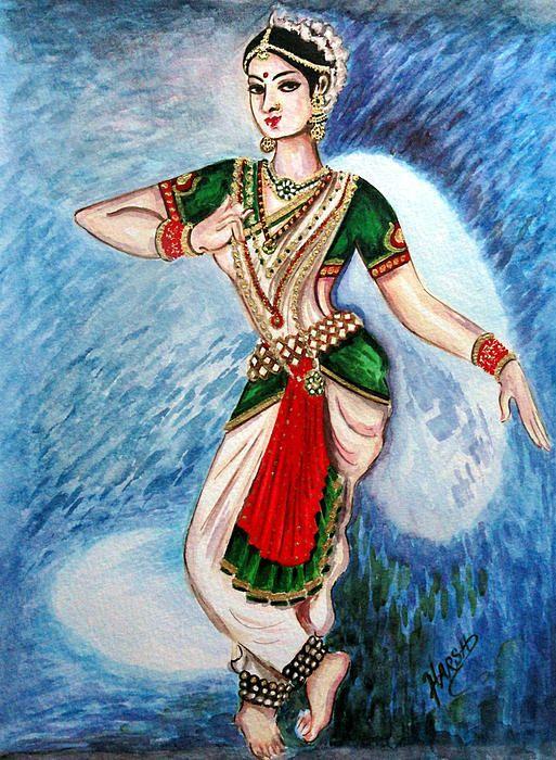 Dance By Harsh Malik Dance Paintings Dancer Painting Indian Classical Dance
