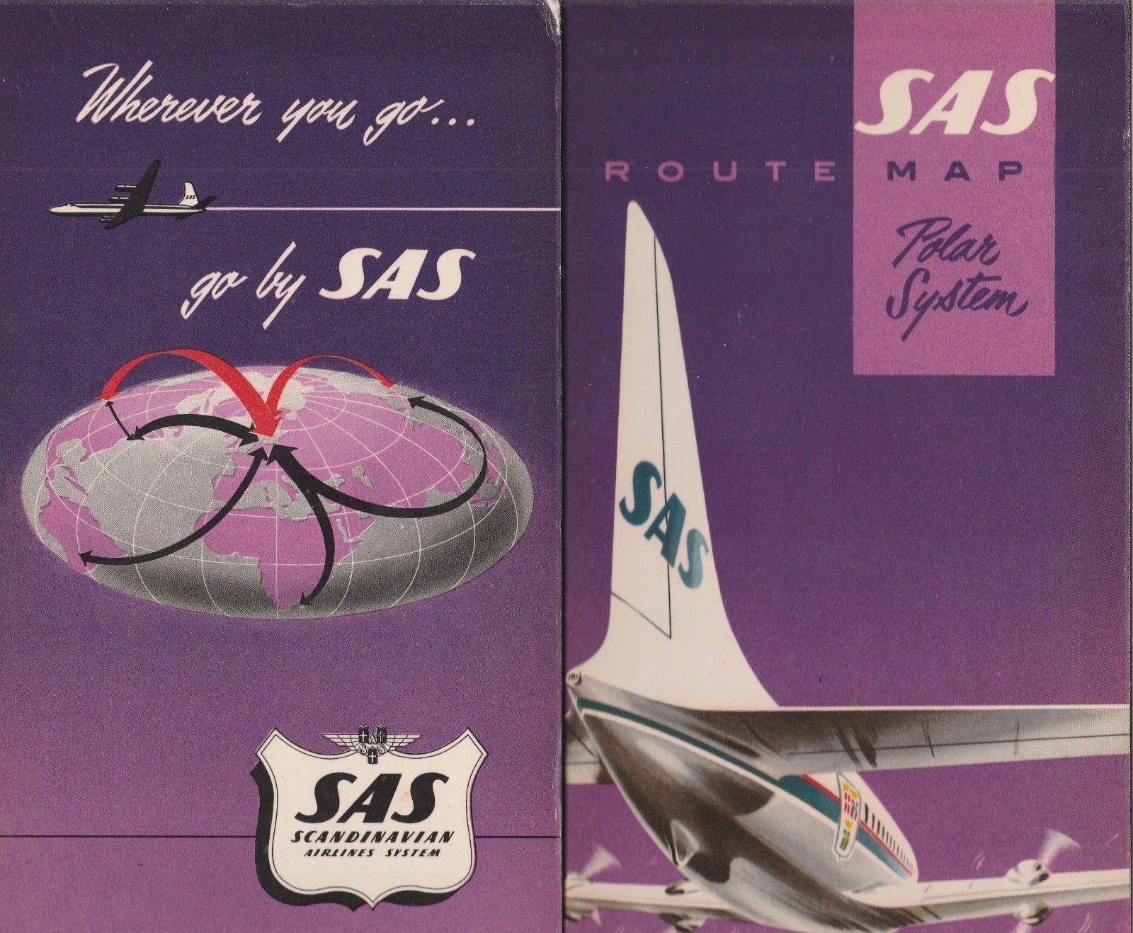 SAS THE GLOBAL AIRLINE 1960 POLAR SYSTEM