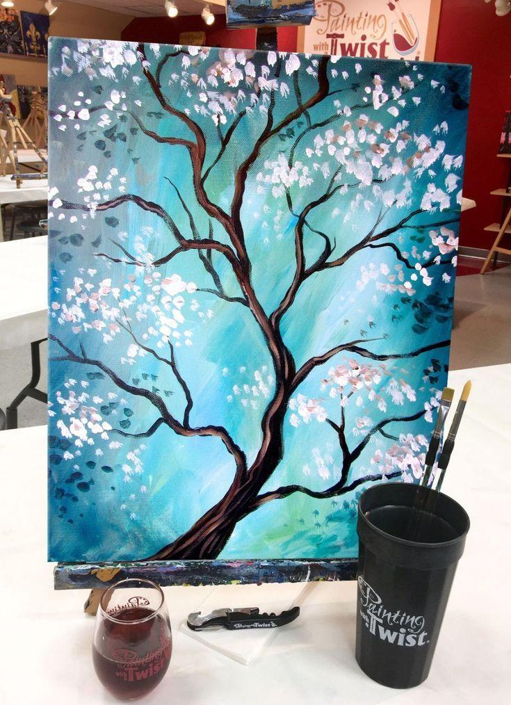 Arbre printemps cerisier japonais - #Arbre #cerisier #japonais #printemps #wasserfarbenkunst