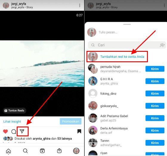 Cara Repost Reels Di Story Instagram,cara repost video reels di story instagram,cara membagikan reels di story instagram,cara repost reels di cerita instagram, Cara Repost Reels Di Story IG,