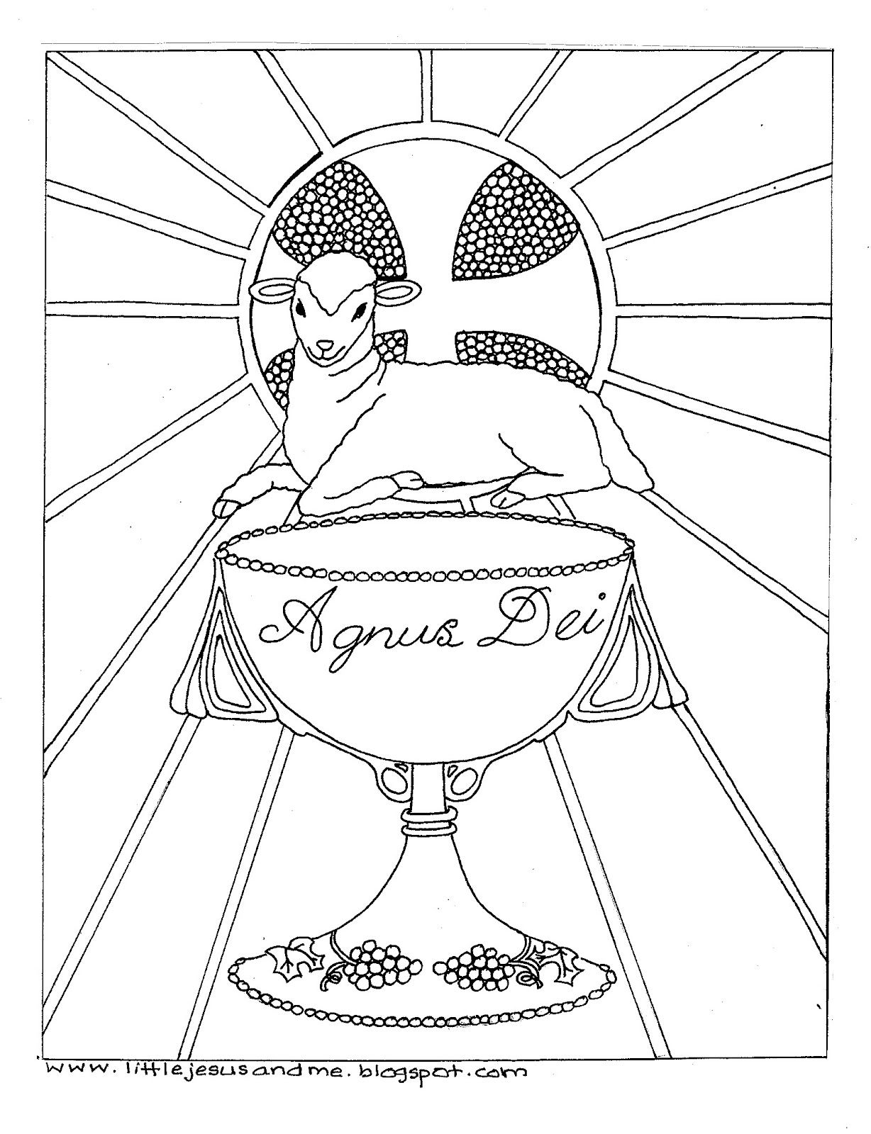 Lamb colouring pages to print - Little Jesus And Me Color Pages