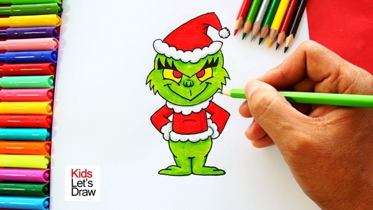 Como Dibujar Un Grinch De Navidad De Manera Facil How To Draw