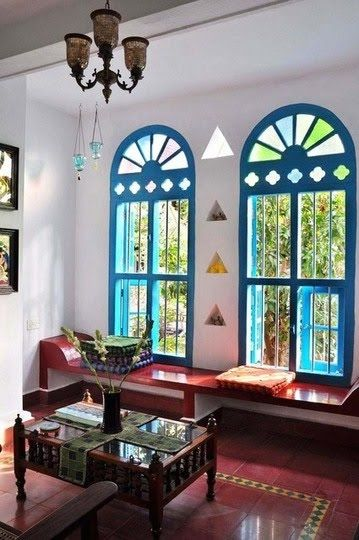 14 Amazing Living Room Designs Indian Style Interior And Decorating Ideas: I Like The Triangles Between The Windows Too.