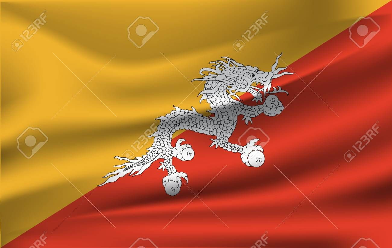 Bhutan Waved Flag Vector Illustration 10 Eps Sponsored Flag Waved Bhutan Vector Eps Flag Vector Vector Illustration Abstract Design