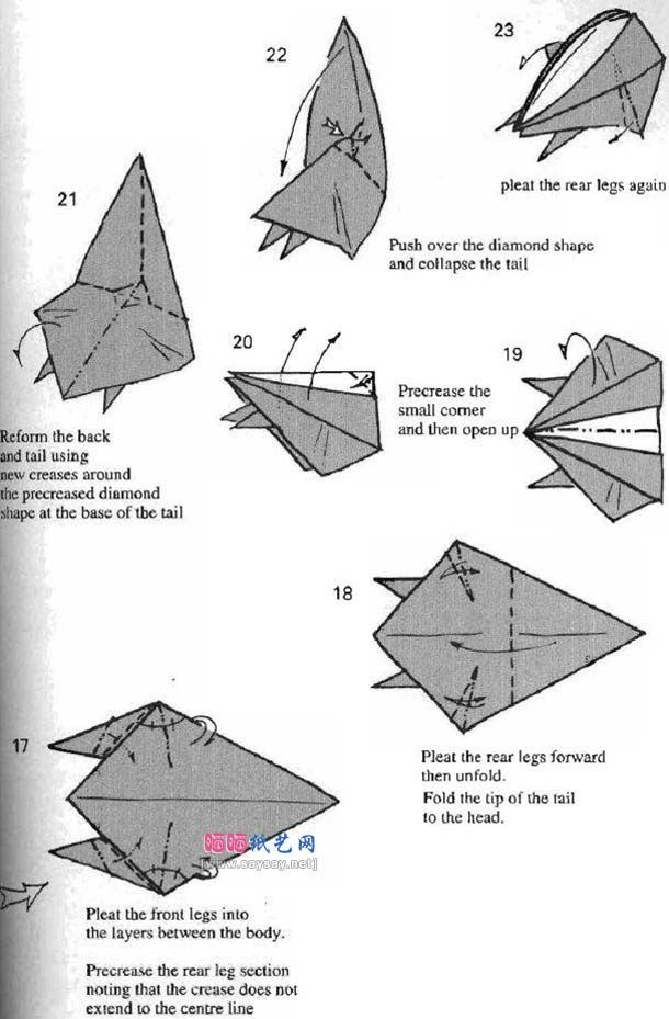 Origami Squirrelsquirrel Origamiorigami Squirrel Instructionsorigami Diagramorigami Flying
