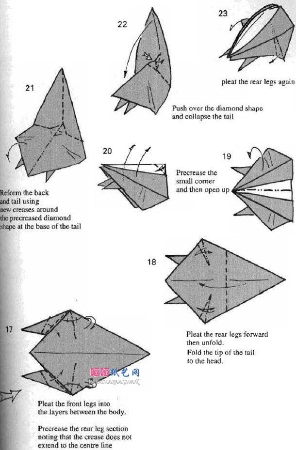 Origami Squirrelsquirrel Origamiorigami Squirrel Instructionsorigami Diagramorigami Flying