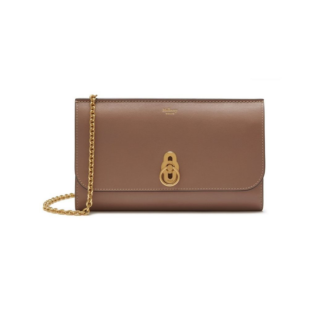 ca5e7699d8 Shop the Amberley Clutch in Dark Blush Smooth Calf Leather at Mulberry.com.  A