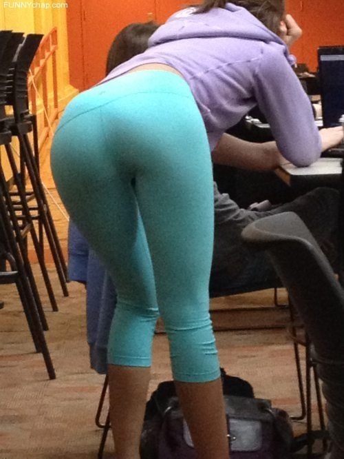 Hot chicks peeing in their yoga pants Pinterest