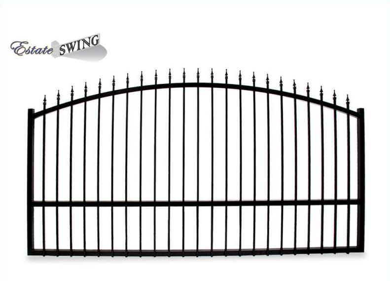 The Estate Swing 14 Foot Long Single Driveway Gate Made In The Usa 879 Driveway Gate Driveway Modern Driveway