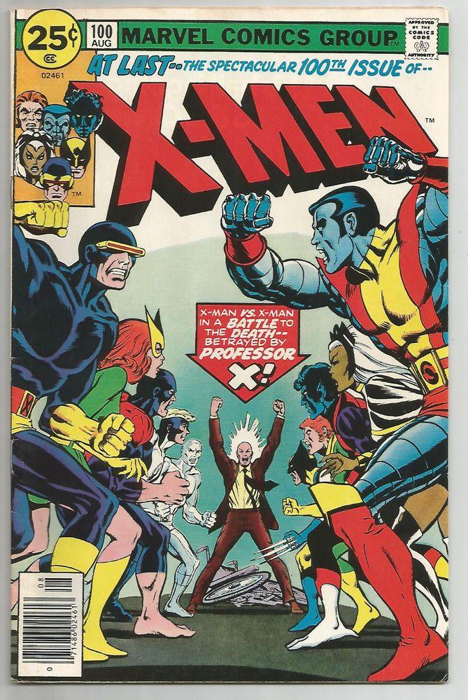 X Men 100 Bronze Age Grade 7 0 New X Men Vs Original X Men Http Www Ebay Com Itm X Men 100 Bron Marvel Comic Books Marvel Comics Covers Comic Book Covers