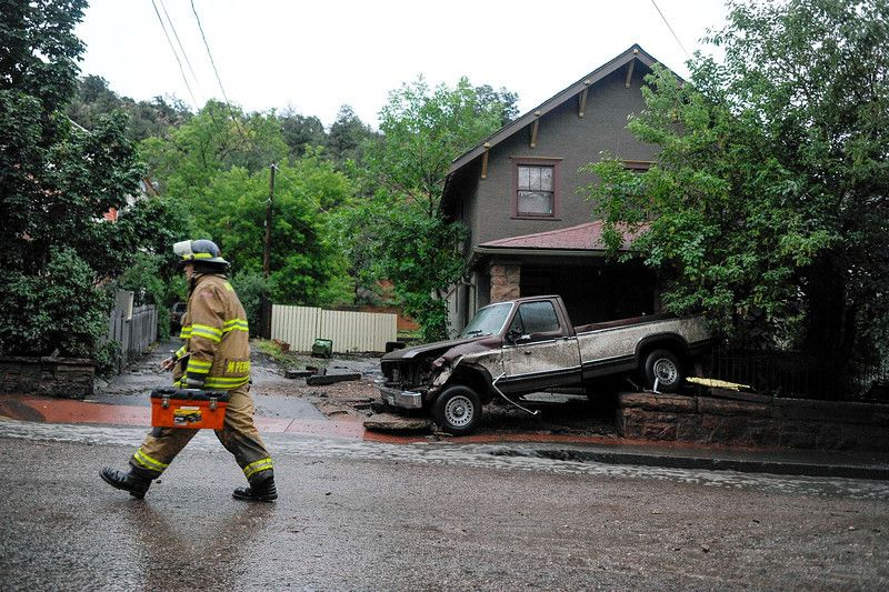 Photos: Flash flooding sweeps through Manitou Springs, Colorado #manitousprings