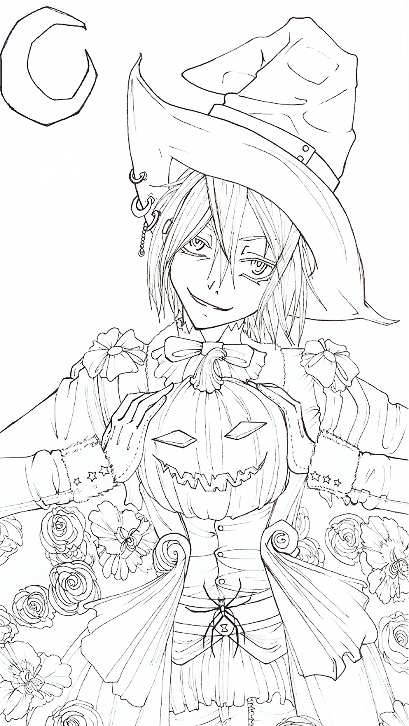 Happy Halloween lineart by ReinYagamideviantart