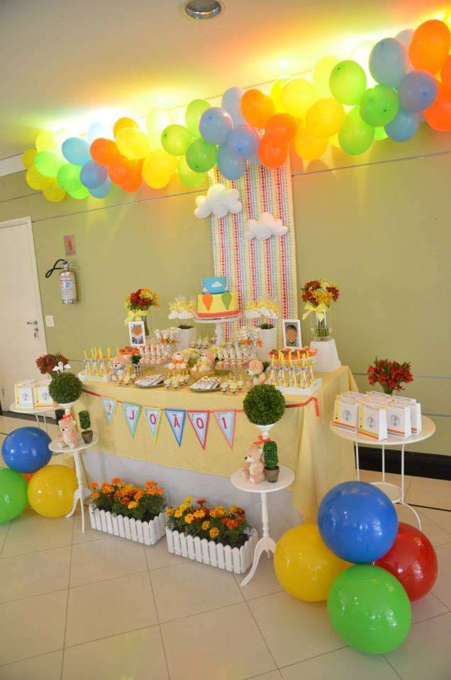 Hot Air Balloon/Sky Birthday Party Ideas | Photo 26 of 26 | Catch My Party