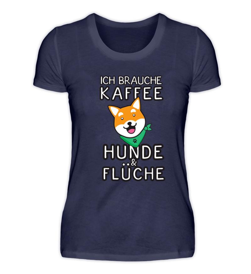 Brauche Kaffee, Hunde und Flüche   Coole t-shirts, Shirts ...
