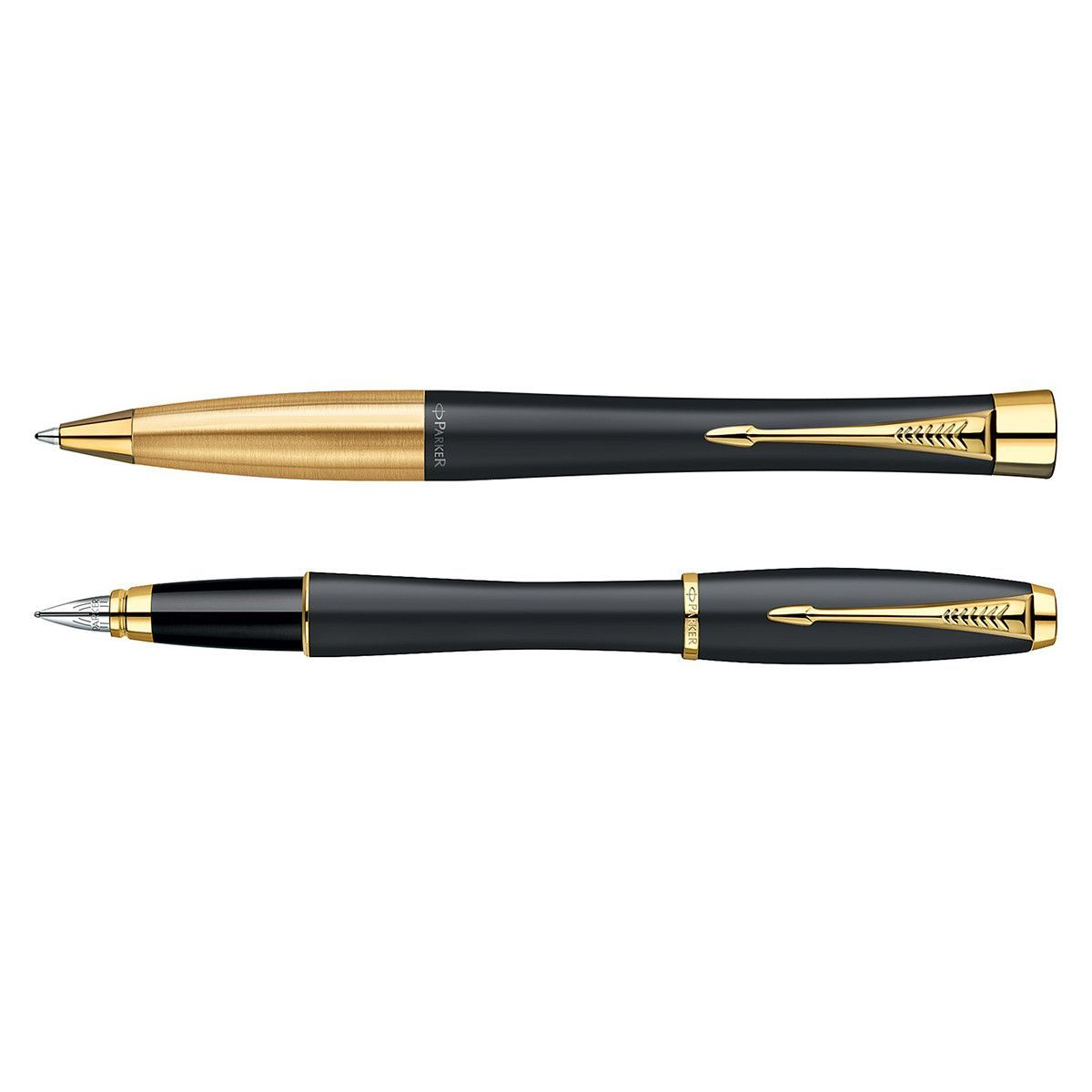 Parker IM Black Lacquer /& Gold Trim Fountain Pen Medium S0856280