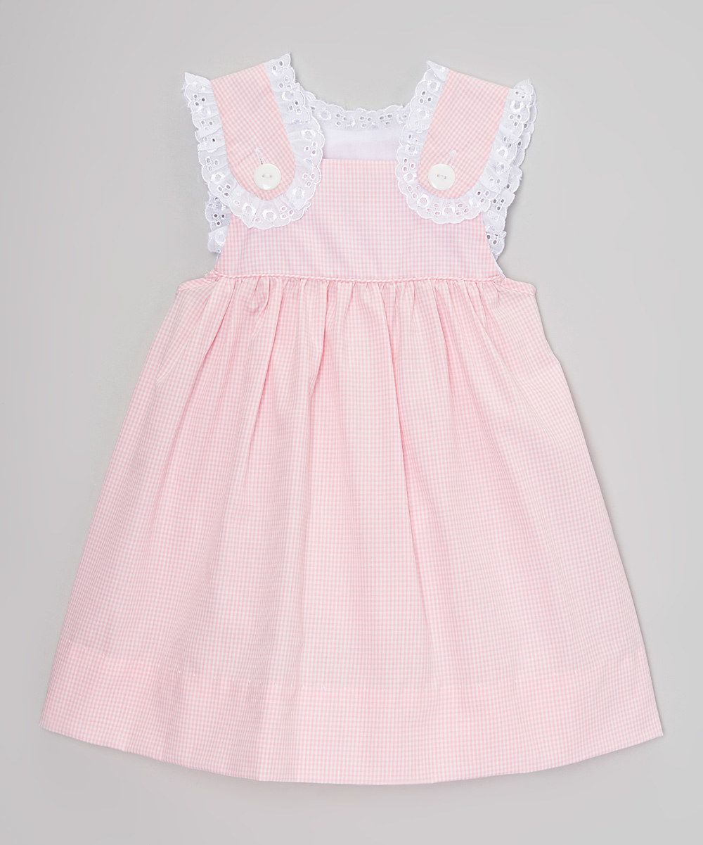 aae72bc9e740 Look at this Smock Candy Pink Gingham Lace Button Dress - Infant ...