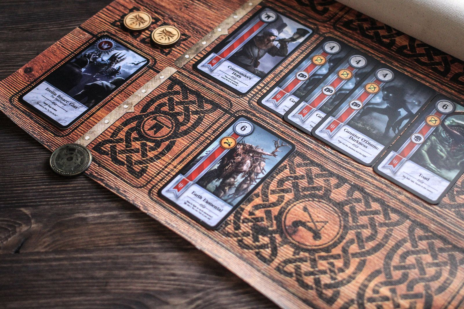 Set for Gwent card game / canvas mat + tokens in 2020