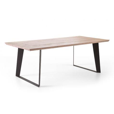 Tisch Maße esstisch eiche tischplatte tisch massiv eiche gestell metall maße