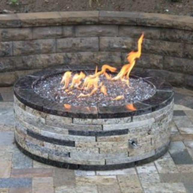 gas fire pit glass stones … - Gas Fire Pit Glass Stones … GLASS FIRE PIT IDEAS Pinterest Gas