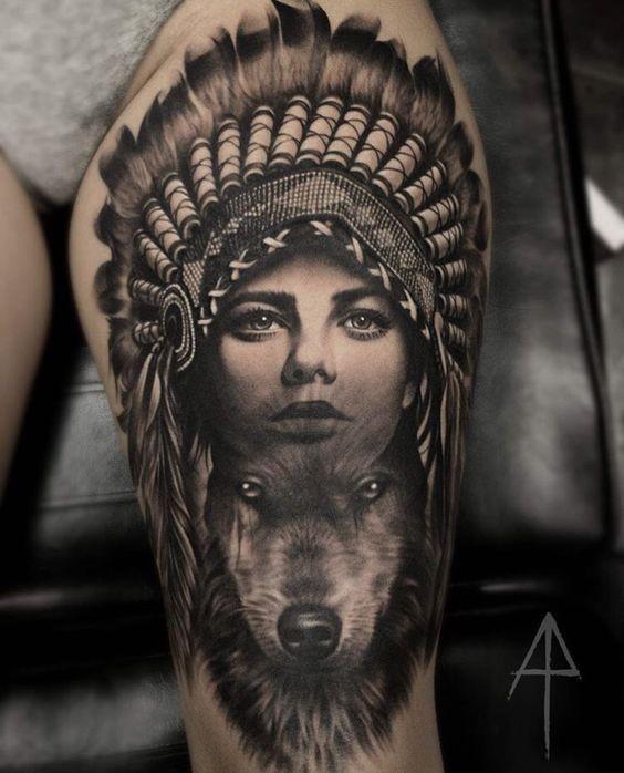 Native Tattoo Native Tattoos Native American Tattoos Wolf Tattoos