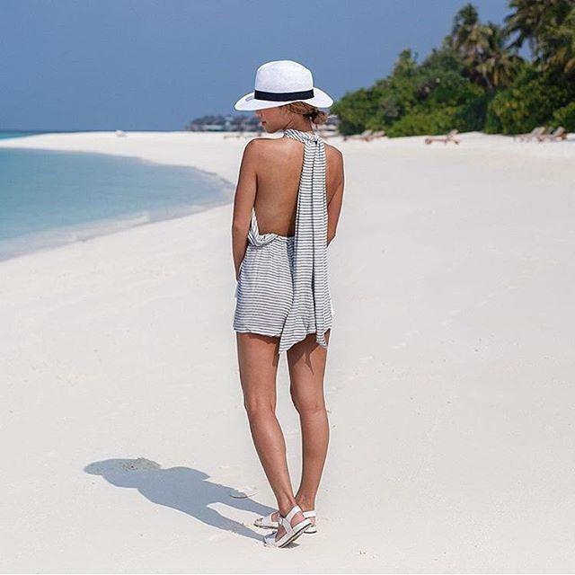 Maldives   Andrea @dreachong in the 'Louis Playsuit' #faithfulltravels