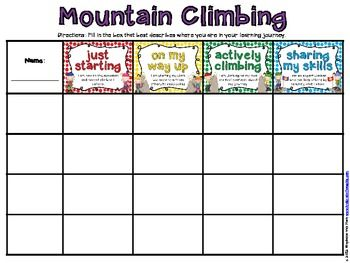 Formative Assessment Mountain Climbers  Formative Assessment
