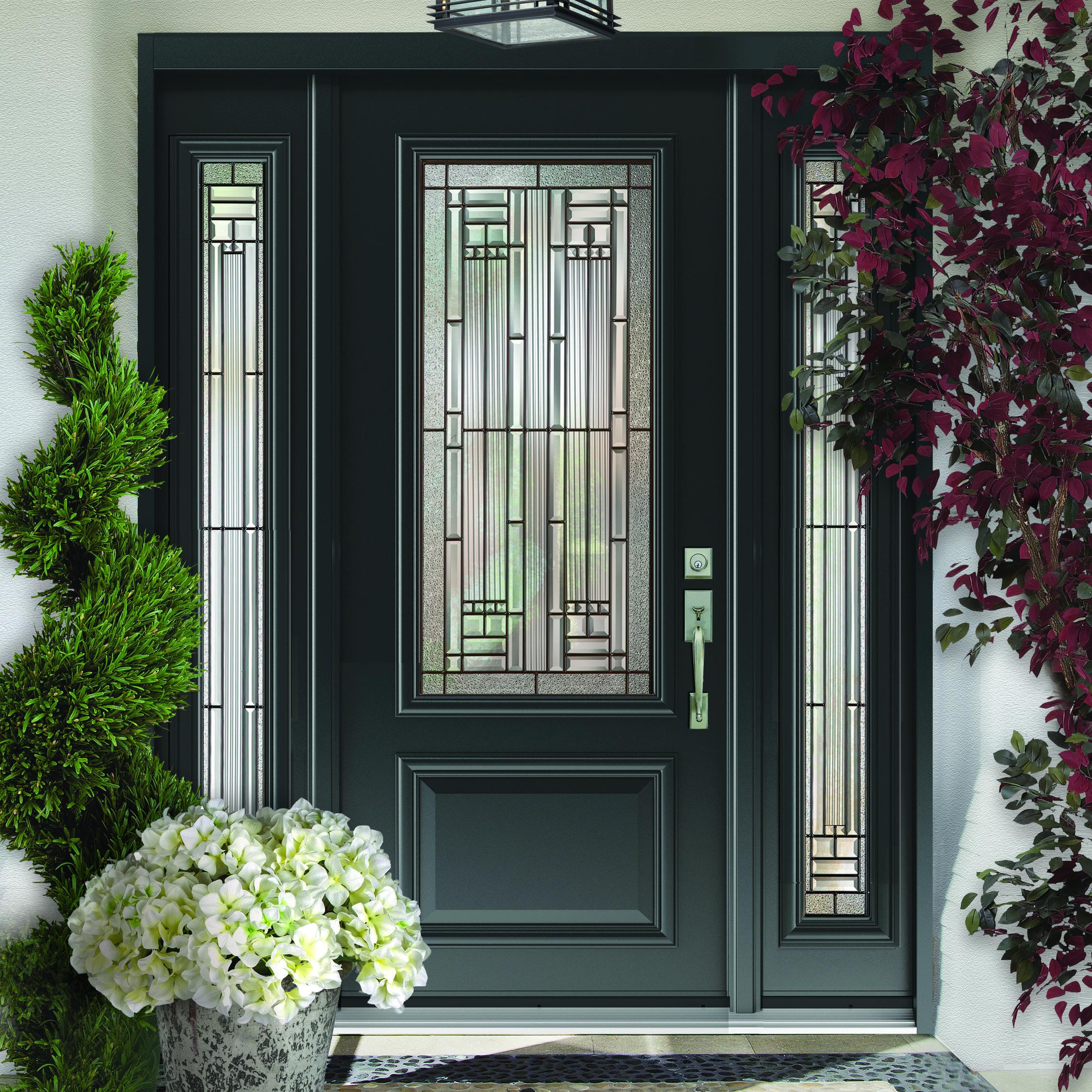Stunning Door With Custom Glass Dorplex Doors In 2019 ...
