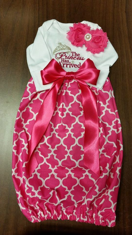 The Princess Has Arrived Boutique Baby gown, layette wholesale gown ...