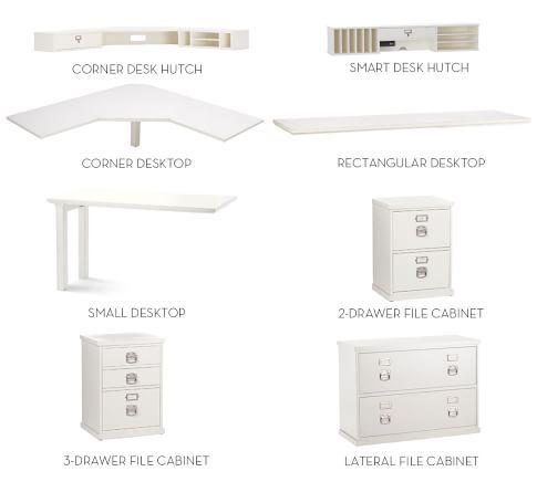 Bedford Corner Desk With Drawers Modular Desk Home Office Storage Modular Cabinets