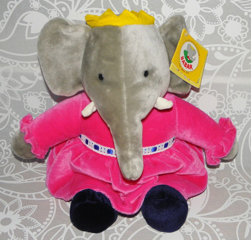 Details About Gund 1995 Babar Elephant Plush Stuffed Animal Toy 18