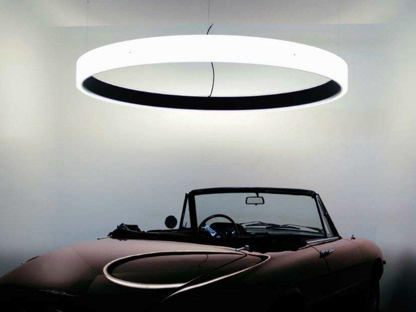 Lampade In Vetro A Sospensione : Lampada a sospensione a led in vetro acrilico circolo inverse
