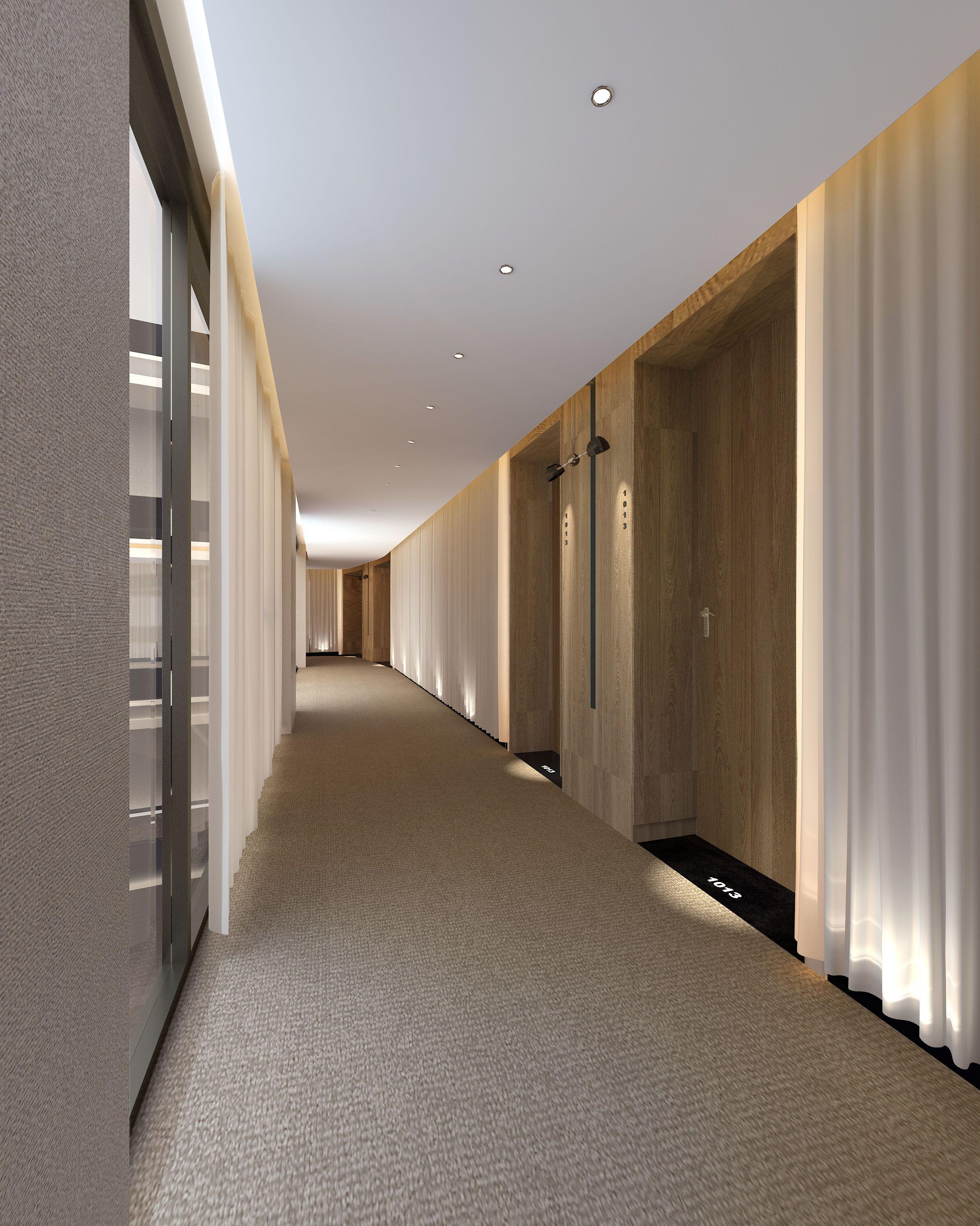 Hele spoon klaasseinad tekstiil ja kipsiga elegantselt for Office hallway design