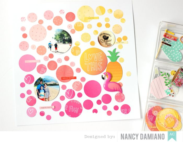 Circles on circles! Amy Tangerine On  a Whim collection.